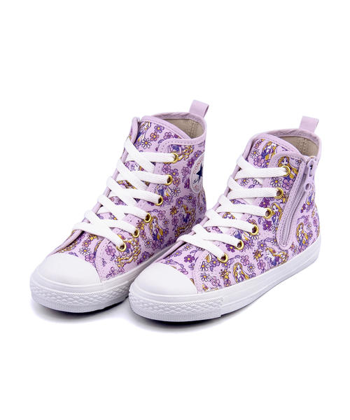 converse(コンバース) CHILD ALL STAR N RAPUNZEL Z HI キッズスニーカー シューズ(チャイルドオールスターNラプンツェルZHI) 3CL421 ライラック