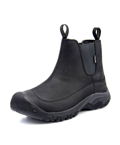 KEEN キーン ANCHORAGE BOOT 3 WP メンズブーツ【防水透湿/滑りにくい】(アンカレッジブーツ3ウォータープルーフ) 1017789 ブラック/レイブン