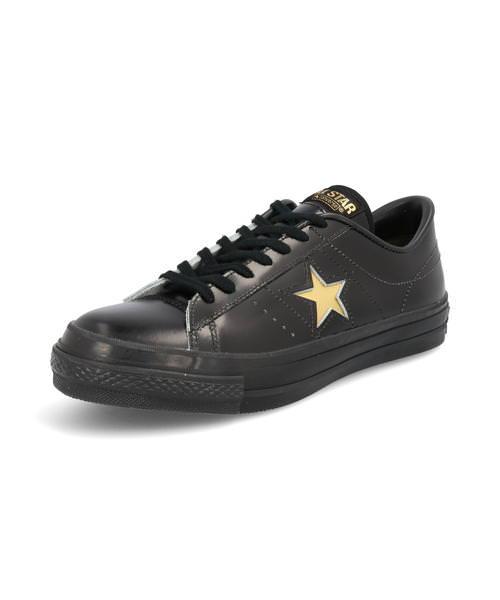 converse コンバース ONE STAR J メンズスニーカー(ワンスターJ) 35200060 ブラック/ゴールド