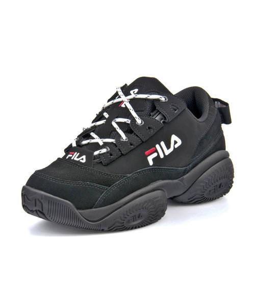 FILA フィラ PROVENANCE LOW W レディーススニーカー(プロヴィナンスロウウィメンズ) F0401 0013 ブラック/ホワイト