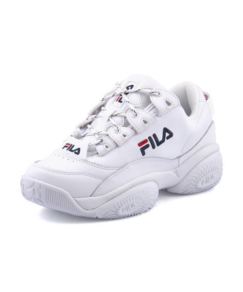 FILA フィラ PROVENANCE LOW W レディーススニーカー(プロヴィナンスロウウィメンズ) F0401 0005 ホワイト/フィラネイビー/フィラレッド