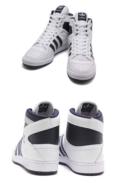adidas (adidas) DECADE HI (decade HI) 901225 running white / new Navy / metallic silver