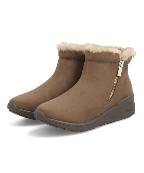 卸売り BootsSALE2021 heal me ヒールミー レディース 市販 ファー付きサイドジップブーツ 耐水 220910 ダークブラウン ショート 靴 ショートブーツ ウィンターシューズ シューズ ギフト ブランド ブーツ
