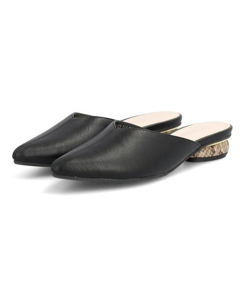 heal me ヒールミー レディース Vカットミュールサンダル 221244 ブラック シューズ 靴 お気に入 初売り クロッグ ブランド ギフト サボサンダル サボ ローヒールサンダル クロッグサンダル ローヒール サンダル