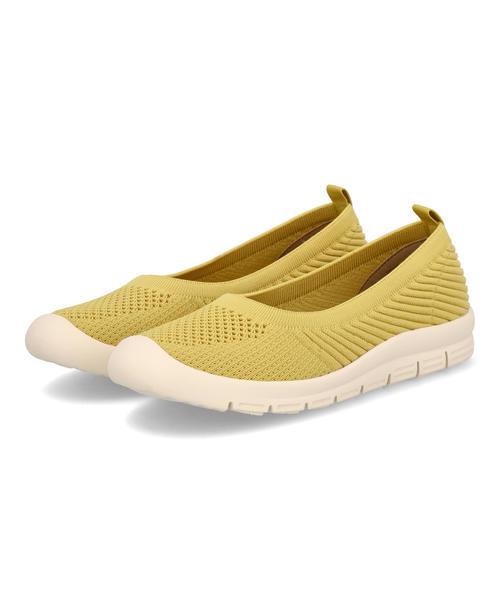 HEAL ME ヒールミー レディース ニットスニーカーパンプス 121105 イエロー ブランド ギフト パンプス シューズ 靴 豪華な ローヒール 買収