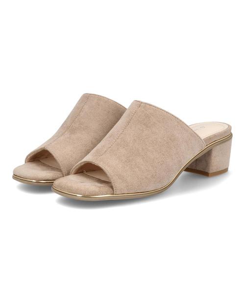 heal me ヒールミー レディース スクエアカバードミュール 221210 [正規販売店] ベージュ シューズ ミドルヒールサンダル クロッグ サンダル サボ ランキングTOP10 サボサンダル 靴 ミドルヒール クロッグサンダル
