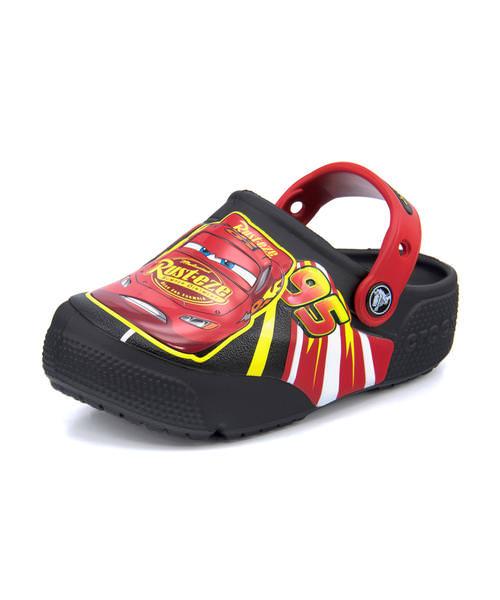 crocs クロックス FUN LAB MCQUEEN LIGHT CLG K【光る靴】キッズサンダル(ファンラブマックイーンライツクロッグキッズ) 205497 001 ブラック