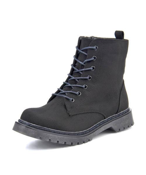 BootsSALE2021 !超美品再入荷品質至上! la farfa ラファーファ レディース レースアップブーツ 大きいサイズ 503 ブラックスエード ショート 購入 ミドル ブーツ ブランド ショートブーツ ギフト 靴 シューズ