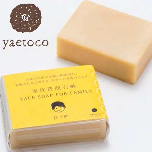 yaetoco you et co family facial cleansing bar SOAP 90 g [yaetoco you et co muchachaen or tangerine Iyo Kanna-free domestic]