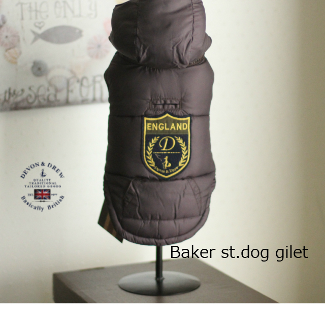 devon&drew デヴォン&ドリュー ベーカーストリートドッグジレ イギリスブランド犬服 ブリティッシュドッグウエア 犬服 セレブ