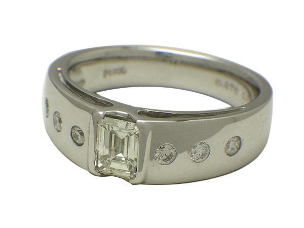 リング 指輪Pt900(プラチナ) ダイヤモンド0.470/0.15ct【実寸】12号【中古】【送料無料】【質屋出品】