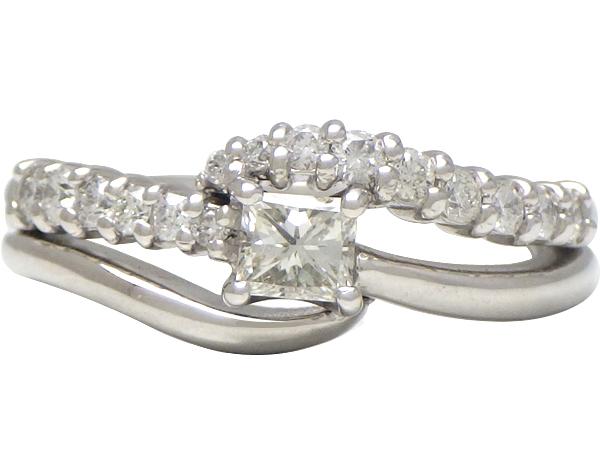 リング 指輪Pt900(プラチナ) ダイヤモンド0.245/0.25ct【実寸】10.5号 ソーティング付き【中古】仕上げ済み【送料無料】【質屋出品】
