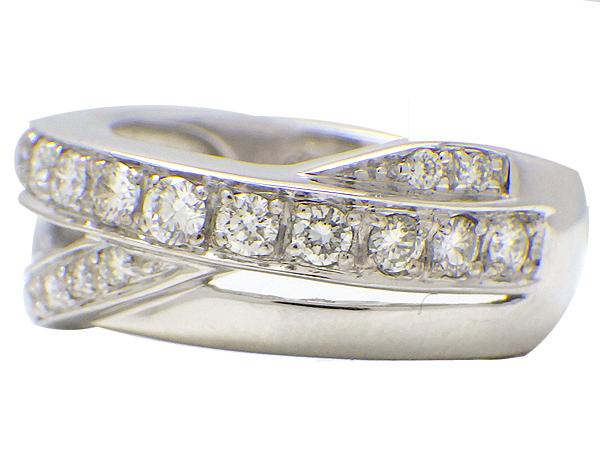 リング 指輪K18WG(ホワイトゴールド) ダイヤモンド0.50ct【実寸】9号【中古】仕上げ済み【送料無料】【質屋出品】