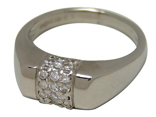 リング 指輪 Pt900(プラチナ)ダイヤモンド0.35ct 【実寸】13号【中古】仕上げ済み【送料無料】【質屋出品】