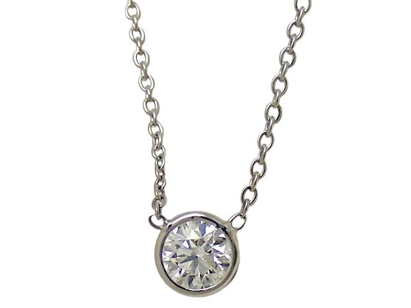 ネックレスK18WG(ホワイトゴールド) ダイヤモンド0.309ctチェーン長さ【実寸】36/40.5cm ソーティング付き【中古】仕上げ済み【送料無料】【質屋出品】