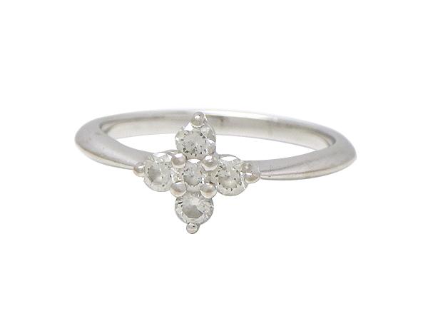 MIKIMOTO ミキモトリング 指輪K18WG(ホワイトゴールド) ダイヤモンド0.21ct【実寸】9号 箱付き【中古】【送料無料】【質屋出品】