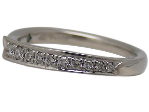 4℃ ヨンドシーリング 指輪 リボンPt950(プラチナ) ダイヤモンド【実寸】8号 箱付き【中古】仕上げ済み【送料無料】【質屋出品】