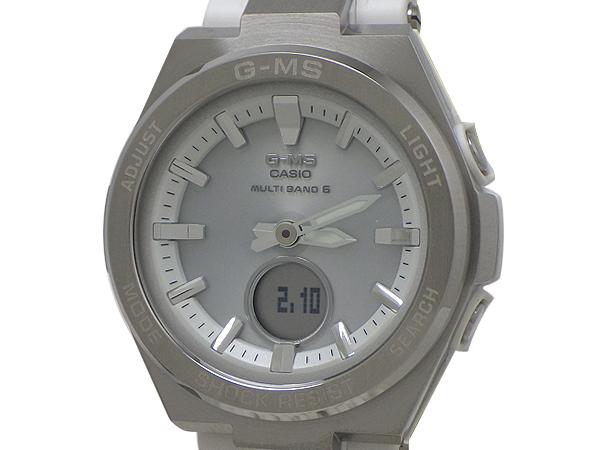 CASIO カシオG-MS(ジーミズ) BABY-G(ベビージー)腕時計 MSG-W200-7AJFSS(ステンレススチール)/樹脂ベルト外箱・内箱・保証書付き【中古】【質屋出品】