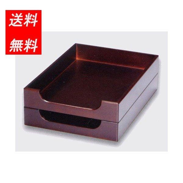 a6168 卓上小物 デスク小物 室内小物 日本製 今季も再入荷 木製 送料無料 プレジデント 20-4-5 即納送料無料 二段 レタートレー