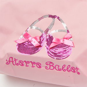발레 연습 레 포장해 서 GO! 어린이를 위한 ナナメ 싱 발레 레슨 가방 장식 < 핑크/검정 > 발레 용품 < balletbag-09 >
