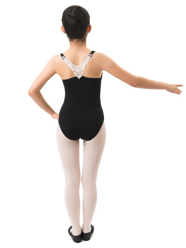 Lovely Lace motifs! Ballet practice leotards for children junior 130 / 140 / 150 / 155 / 165 cm 2 colors <r123>