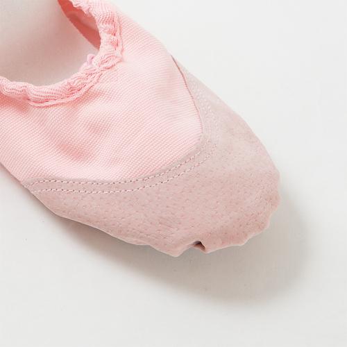 전 가죽으로 된 화포 분할 유형 발레 (춤) 슈즈 < 예쁜 분홍색 > < shose10 >