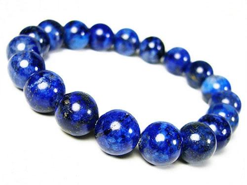 芦屋ルチル/良色ラピスラズリ/天然石パワーストーンブレスレット10mm/3つ星/P19Jul15