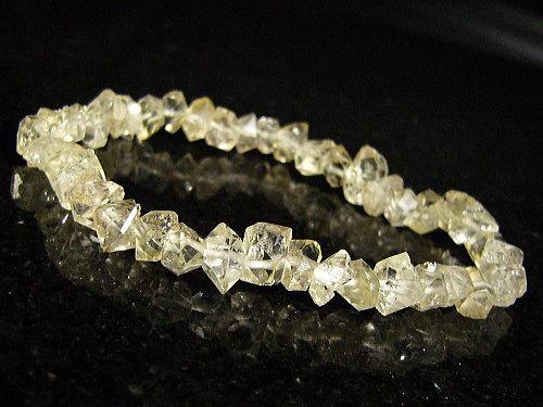 ハーキマーダイヤモンド/天然石パワーストーンブレスレット/6-9mm【一点もの】