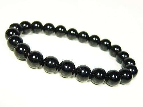 芦屋ルチル/モリオン/黒水晶/天然石パワーストーンブレスレット8mm【一点もの】