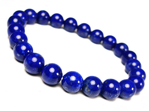 芦屋ルチル/高品質ラピスラズリ/天然石パワーストーンブレスレット8mm/5つ星/P19Jul15