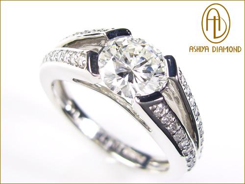 豪華1ctダイヤモンドの煌めき! 天然ダイヤモンドリング/1.021ct/VS1/プラチナ900指輪/P19Jul15「39ショップ」