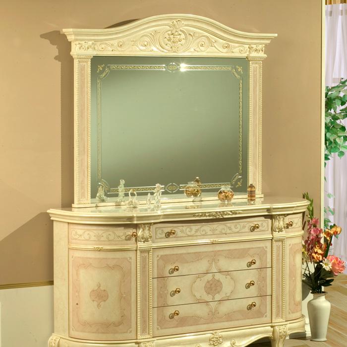 Saltarelli サルタレッリ Versailles ヴェルサイユ Mirror 4Doors(Ivory)