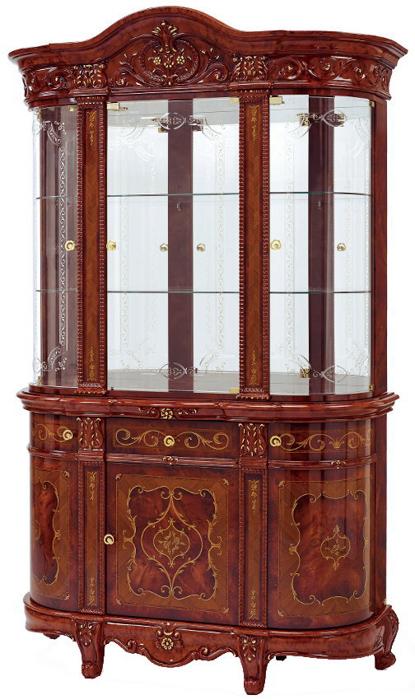Saltarelli サルタレッリ Versailles ヴェルサイユ 3Doors Glass Cupboard ※開きタイプ(Walnut)