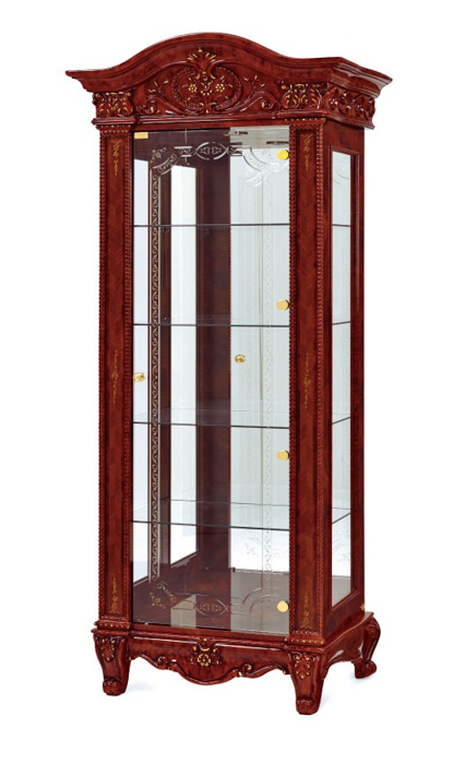 Saltarelli サルタレッリ Versailles ヴェルサイユ Vetrina Curio 1Door Tall(Walnut)