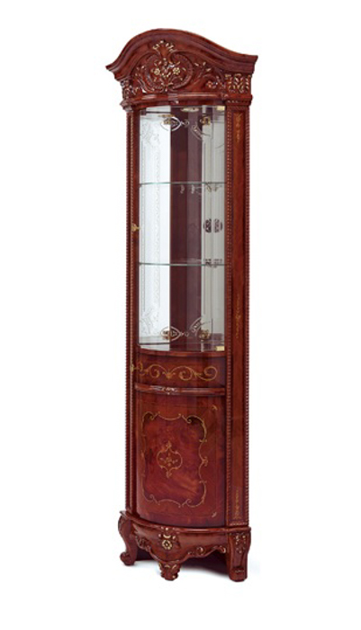 Saltarelli サルタレッリ Versailles ヴェルサイユ Corner Cabinet(Walnut)