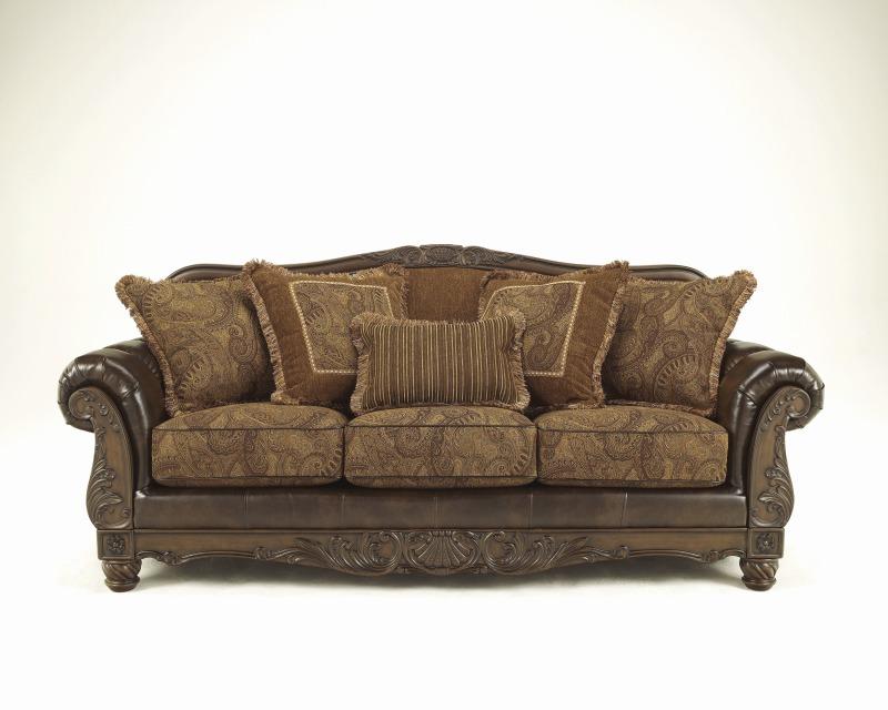 Imported Furniture Sofa 3 P Antique Gorgeous Design Fresco Durablend Ashley 63100 38