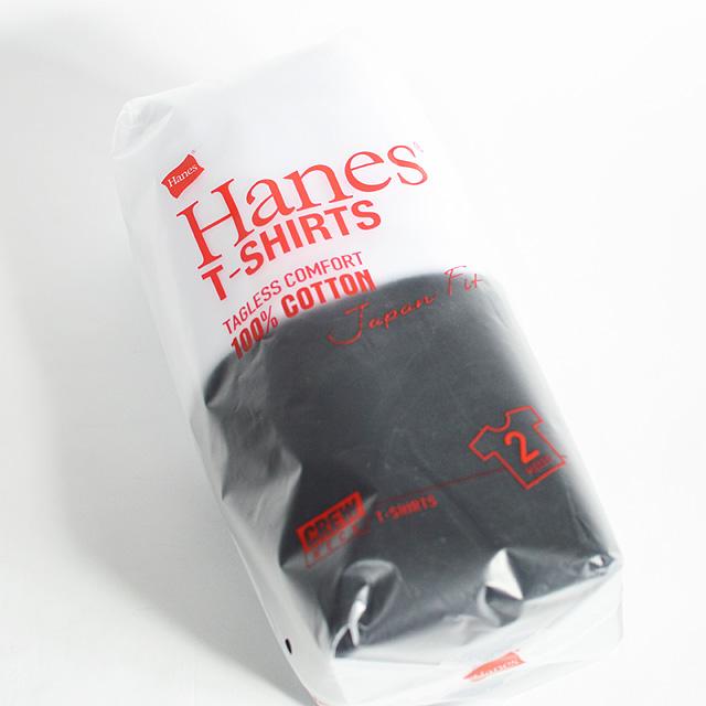 パックt 商舗 新作送料無料 HANES ヘインズ ジャパンフィット クルーネックTシャツ 2枚組 H5120 無地 メンズ レディース 998白黒 カジュアル シンプル 夏用