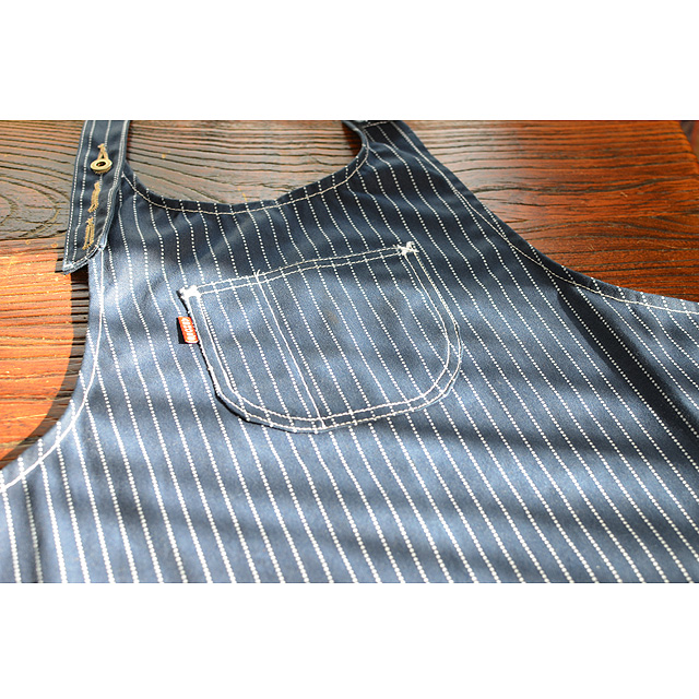 ASHOES&SUNS WORKS ウォバッシュエプロン handmade 10oz.wabash stripe