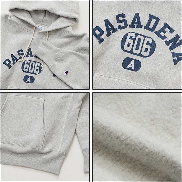 전사 리 파커 Champion FRONT GAZETTE REVERSE WEAVE P/O SWEAT (040) 실버 그레이