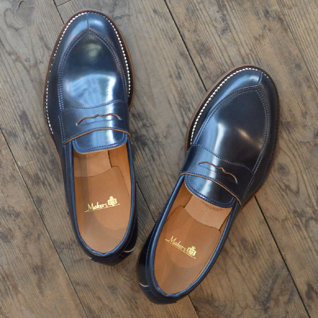 Makers お値打ち価格で メイカーズ 靴 V NAVY LOAFER NEW売り切れる前に☆ TIP