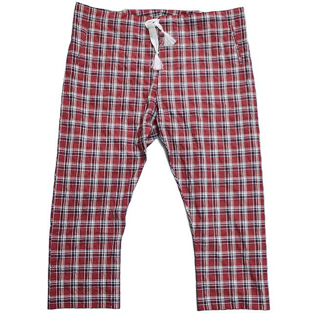 エムズブラック パンツ m's braque PAJAMA PANTS 15SS RED check