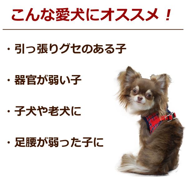 犬 ハーネス ASHUウェアハーネス ギンガムチェック LLサイズ(中型犬用) 2枚セット 服型 胴輪 子犬 老犬にも優しい布製ウエアハーネス【リードは別売り】アッシュ 洋服の上から