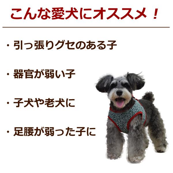 ASHUウェアハーネス 唐草セット Sサイズ(小型犬用)| 犬 ハーネス リード セット 子犬 老犬 服型 ベスト型ハーネス胴輪 簡単 かわいい 唐草模様 トイプードル ヨーキー マルチーズ チワワ パピヨンアッシュ 洋服の上から