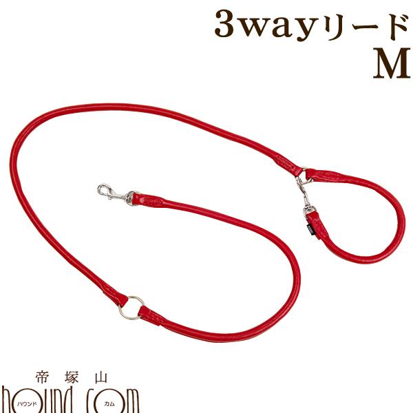 ASHU*ソフトレザー[3Way リード] サイズ:M【中型犬 大型犬用】
