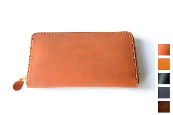 【Ense / アンサ】ラウンドジップ ロングウォレットew-103 Zipper Wallet