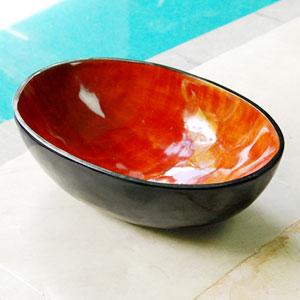 インドネシアバリ島の天然素材! 天然真珠貝フットスパボウル (ライトカラー)