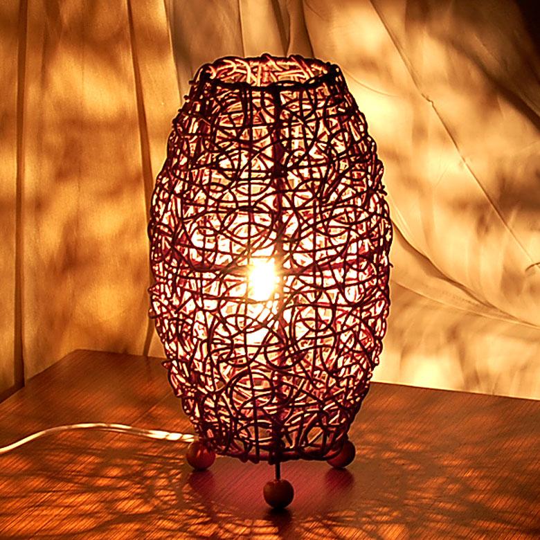 Asian Lighting Rattan Knitting Co Horse Mackerel Ann Lamp S 10062