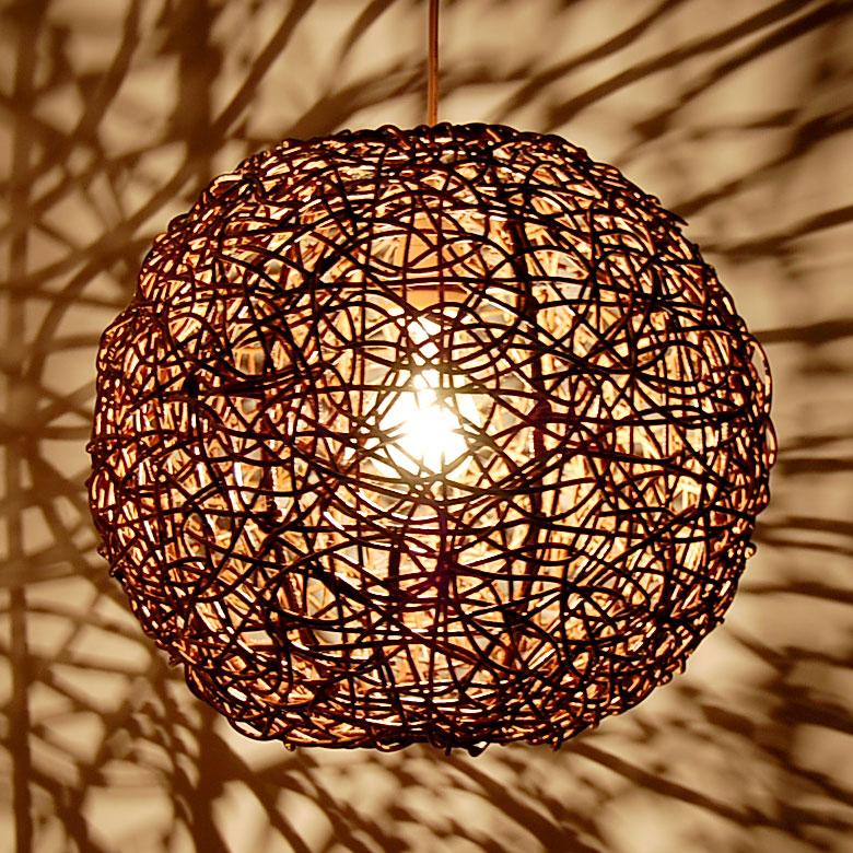 The Pendant Light Ball Of Asian Lighting Rattan 4332