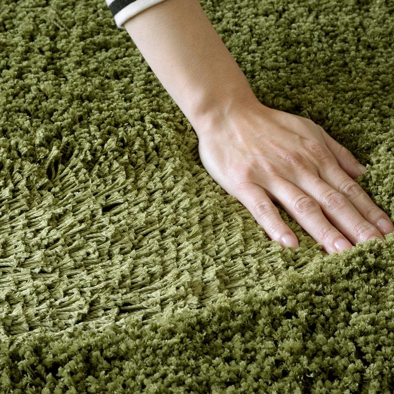 洗えるシャギーラグカーペット[強力滑り止め付き]直径約185cm[円形]【マイクロファイバー 円形 丸型 丸い 厚手 ラグマット ホットカーペット対応 滑り止め 絨毯 じゅうたん 北欧 グリーン ホワイト ブラウン レッド ブラック ベージュ かーぺっと らぐ 敷物】