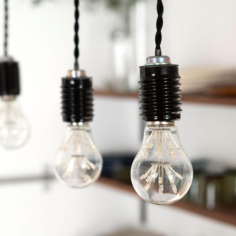 LED bulb nostalgic lamp Edison type sparkling valve electric bulb color 6cm  in diameter E26 clear [94606]